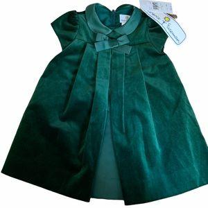 Florence eiseman green velvet dress